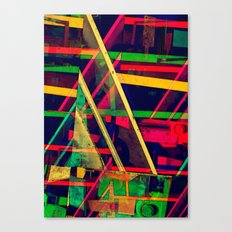 Industrial Abstract Green Canvas Print