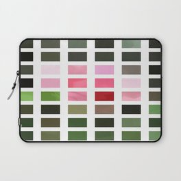 Pink Roses in Anzures 3 Abstract Rectangles 2 Laptop Sleeve