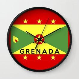 flag of Grenada Wall Clock
