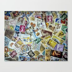 Postage Stamps Canvas Print