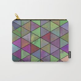 Pastel Triangulation - Abstract, textured, geometric painting Carry-All Pouch