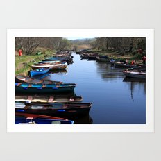 Fishing Boat Row Art Print