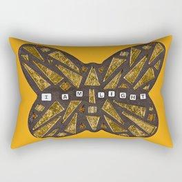 I Am Light Mosaic Butterfly Rectangular Pillow