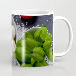Trio of tomatoes basil fresh mozzarella Coffee Mug
