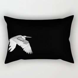 Night Heron Rectangular Pillow