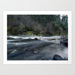 Butte Creek in the winter (long exposure) Art Print