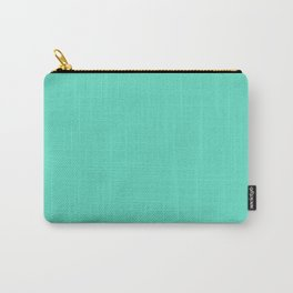Aqua Blue Solid Color Carry-All Pouch