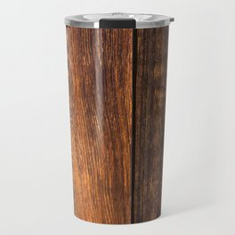 Old wood texture Travel Mug