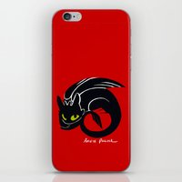 toothless iPhone & iPod Skins featuring Toothless by Annie Pollock
