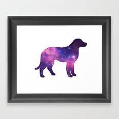 SPACE DOG Framed Art Print