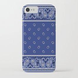 Classic Royal Blue Bandana iPhone Case