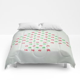 Christmas Tree in Red and Green Comforters