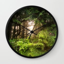The Light Within - Beauty in the Washington Rain Forest Wall Clock
