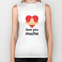 Love You Mucho Biker Tank