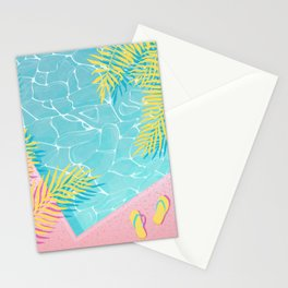 Tropical pool chill Stationery Cards