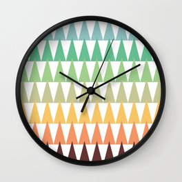 Colorful Corn Mountains Wall Clock