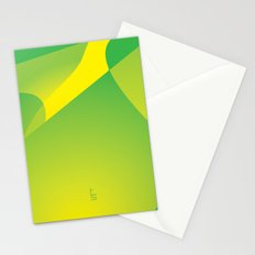 Green Tonal Collision Stationery Cards
