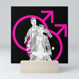 Tied The Knot! Funny Gay Marriage Design! Mini Art Print