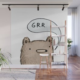Growling Bear Wall Mural