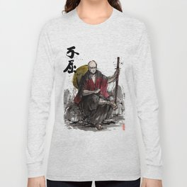 Samurai Captain Picard Parody/Crossover with Japanese Calligraphy Long Sleeve T-shirt