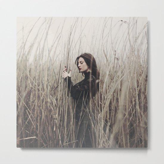 Girl in a field Metal Print