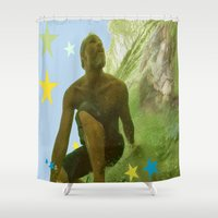 renaissance Shower Curtains featuring Surfing Renaissance  by David Stone