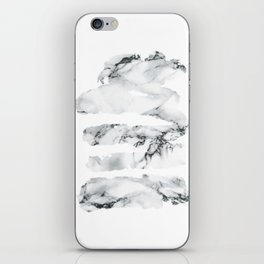 Marble stains iPhone Skin