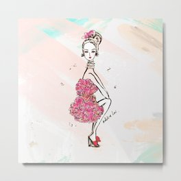 Carnation Girl Metal Print