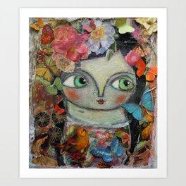 In the Fairy garden Art Print