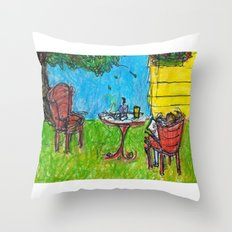 Weekends with Karl Throw Pillow