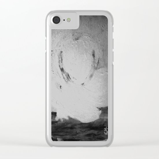 Abstract in Nature Shadows Clear iPhone Case