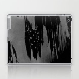 Modern black gray hand painted watercolor pattern Laptop & iPad Skin