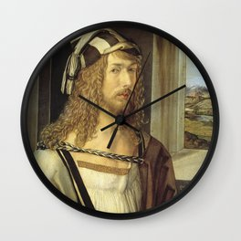 Self-Portrait by Albrecht Dürer Wall Clock