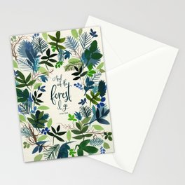 Into the Forest Watercolor Stationery Cards