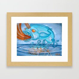 Koi Series, Flushed But Not Forgotten Framed Art Print