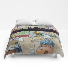 Coffee Shop NYC Comforters