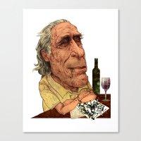 bukowski Canvas Prints featuring Bukowski by C.M. Duffy