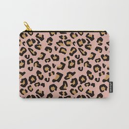 Jungle - Leopard Pattern Nude Blush Carry-All Pouch