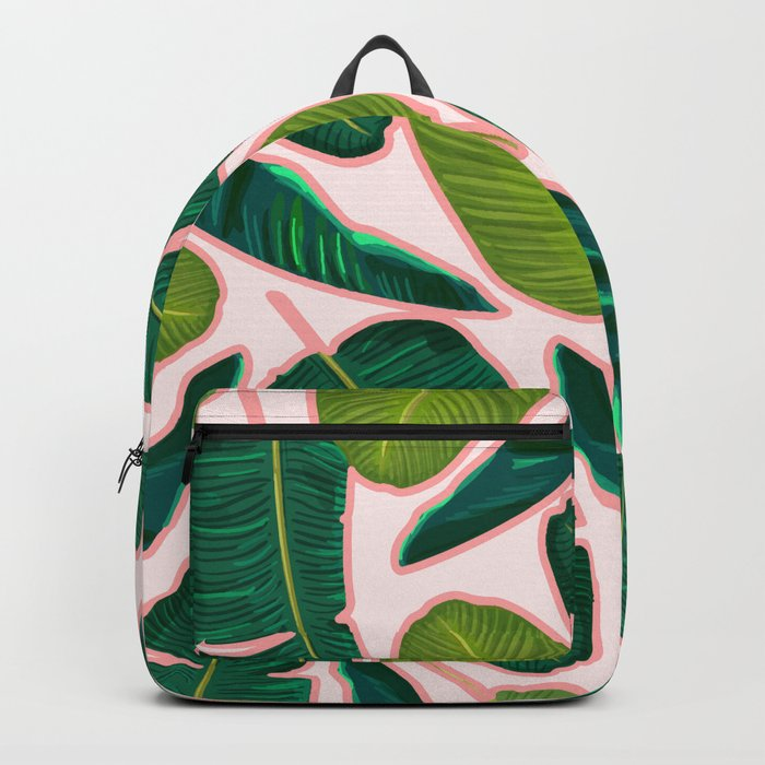 Banana Leaf Blush #society6 #decor #buyart Backpack