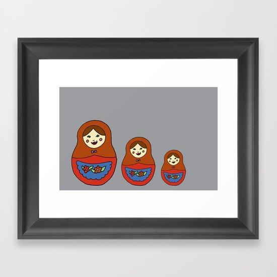 3 Matroyshkas Framed Art Print
