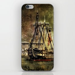 Tall ship USS Constitution iPhone Skin