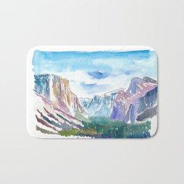 USA National Park Yosemite El Capitan Bath Mat
