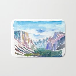 USA National Park Yosemite El Capitan Bath Mat