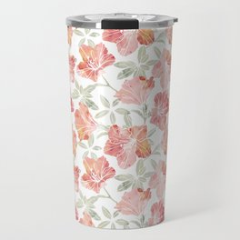Peach pink azaleas Travel Mug