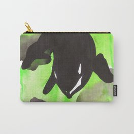 Diving Orca - Light Green Carry-All Pouch