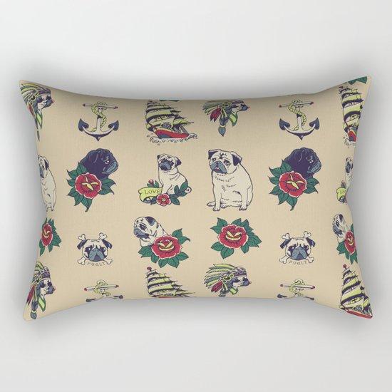 Pugs and the sea Rectangular Pillow