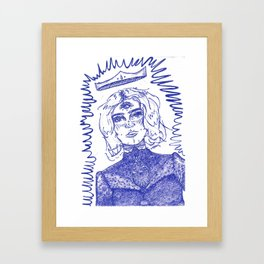 The Queen of Outer Space Framed Art Print