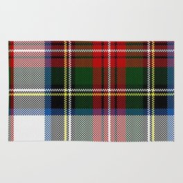 Clan Stewart Dress Tartan Plaid Pattern Rug