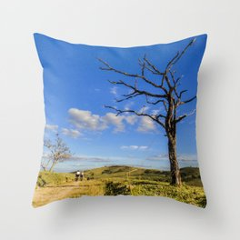 Mountain Bike Throw Pillow