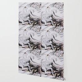 Elegant dark swirls of marble Wallpaper